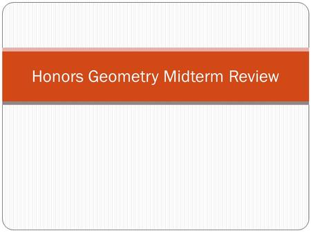 Honors Geometry Midterm Review. Find the shaded segment of the circle.
