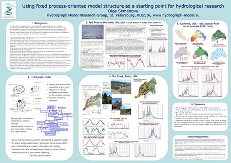 Using fixed process-oriented model structure as a starting point for hydrological research Olga Semenova Hydrograph Model Research Group, St. Petersburg,
