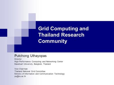 Security Standards and Issues for Grid Computing  Computer Science
