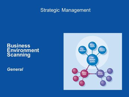 Strategic Management Business Environment Scanning General.