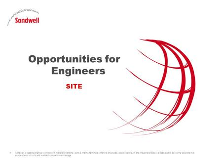 » Sandwell, a leading engineer contractor in materials handling, ports & marine terminals, offshore structures, power, petroleum and industrial process.