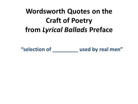 wordsworths preface to the lyrical ballads essay help