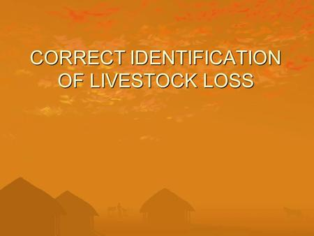 CORRECT IDENTIFICATION OF LIVESTOCK LOSS. WHY CONSERVE PREDATORS??? Predators are indicator species, demonstrating the health of an ecosystem Control.
