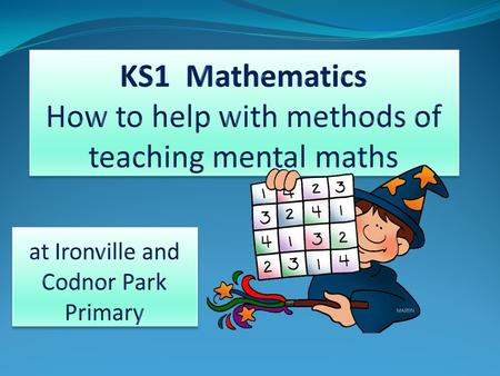 KS1 Mathematics How to help with methods of teaching mental maths
