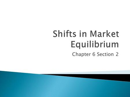 Chapter 6 Section 2.  Shortage – firms will raise prices ◦ Quantity supplied will rise; quantity demanded will fall; until both are equal  Surplus –