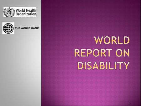1.  Assembles the best available scientific information on disability today  Recommends national and international action to improve the lives of people.