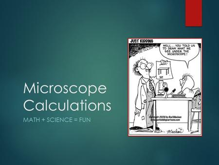 Microscope Calculations