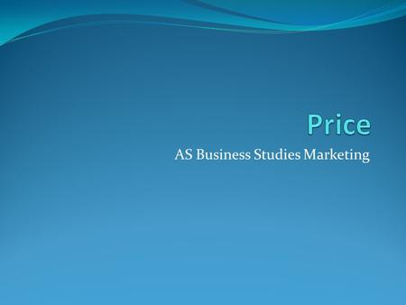 AS Business Studies Marketing