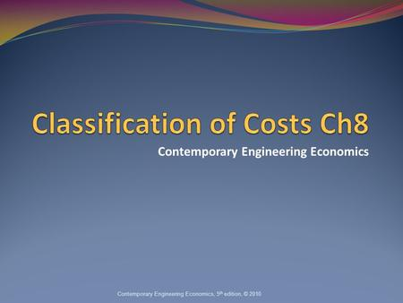 enginineer economic and costing essay