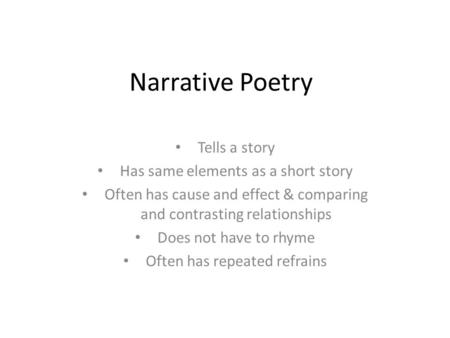 poetry narrative fiction short story essay Narrative essay: definition a narrative is a story folk tales, short stories, and poetry in addition to literature, narratives are found in cinema.