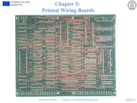 Electronic Pack….. Chapter 5: Printed Wiring Boards Slide 1 Chapter 5: Printed Wiring Boards.
