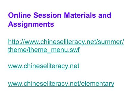 Online Session Materials and Assignments  theme/theme_menu.swf