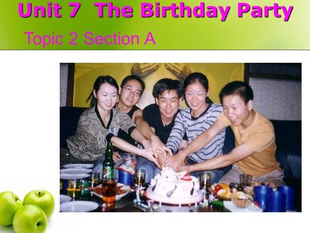 Unit 7 The Birthday Party Topic 2 Section A draw pictures Can you …? Yes, I can. No, I can't.