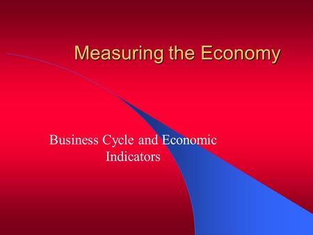 Business Cycle and Economic Indicators