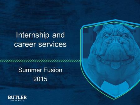 Internship and career services Summer Fusion 2015.