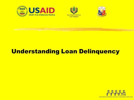 Understanding Loan Delinquency. Rationale  The loan portfolio is considered as the largest income- generating asset of a lending institution.  Like.