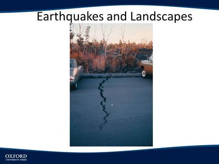 Earthquakes and Landscapes