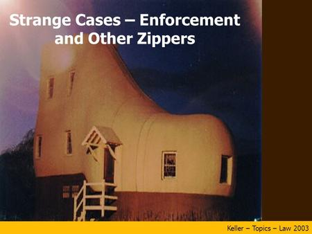 Keller – Topics – Law 2003 Strange Cases – Enforcement and Other Zippers.