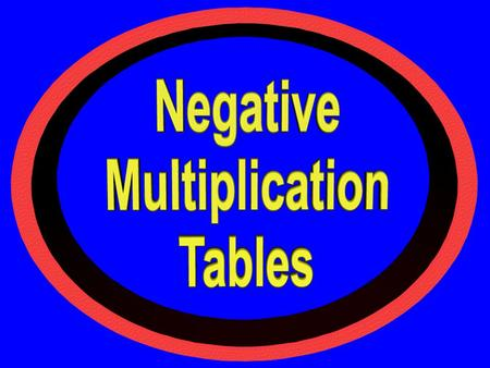 © T Madas. Fill in this negative multiplication table. [the numbers multiplied are all whole negative & positive numbers] 21-49-56357 27-63-72459 -153540-5.