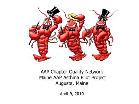 AAP Chapter Quality Network Maine AAP Asthma Pilot Project Augusta, Maine April 9, 2010.