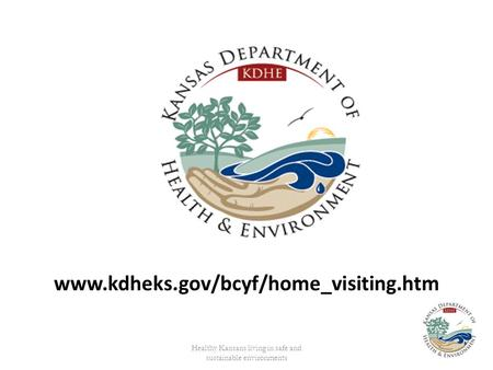 Healthy Kansans living in safe and sustainable environments www.kdheks.gov/bcyf/home_visiting.htm.