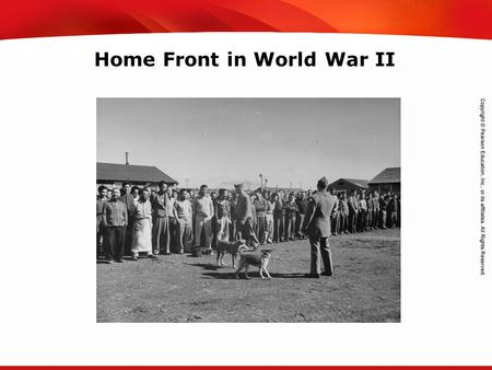 TEKS 8C: Calculate percent composition and empirical and molecular formulas. Home Front in World War II.