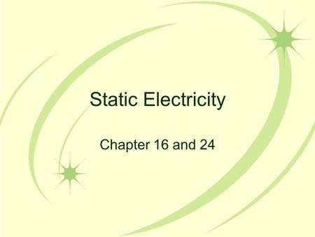 Static Electricity Chapter 16 and 24. Review: The 4 Fundamental Forces Strong Force – The force that is involved in holding the nucleus of an atom together.