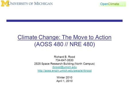 Climate change the move to action aoss 480 nre 501 for Does new roof affect appraisal