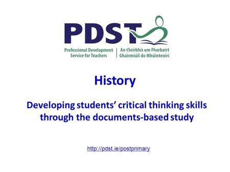 History Developing students' critical thinking skills through the documents-based study