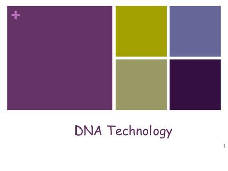 + DNA Technology 1. + DNA Extraction Chemical treatments Chemical treatments cause cells and nuclei to burst sticky The DNA is inherently sticky, and.
