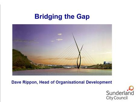 Dave Rippon, Head of Organisational Development Bridging the Gap.