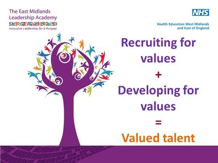 Recruiting for values + Developing for values = Valued talent.