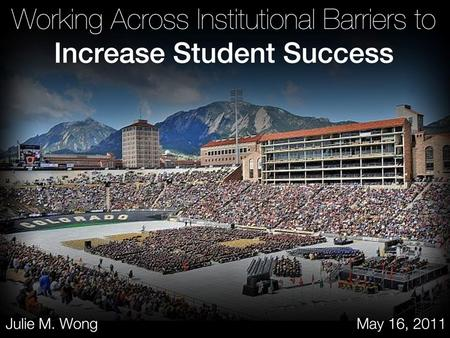 Student Success Two Campuses –San Diego State University –University of Texas at El Paso Barriers Strategy.