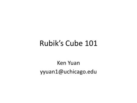 Rubik's Cube 101 Ken Yuan World Record?