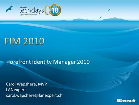 Presentation_title Forefront Identity Manager 2010