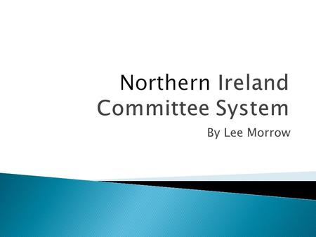 By Lee Morrow.  A Committee is a group of roughly 11 MLAs who are given a particular role to focus on. There are eleven departments plus the first ministers.