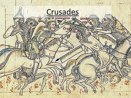 Crusades.  During the Middle Ages the Catholic Church had risen in power.  After the fall of Rome, the Eastern portion of the Empire became known as.