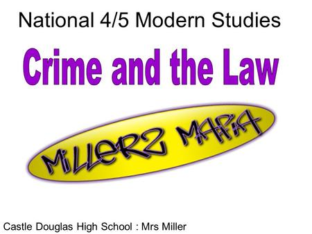 National 4/5 Modern Studies Castle Douglas High School : Mrs Miller.