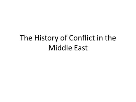 The History of Conflict in the Middle East. Abraham is asked to offer his Son Melchizadek Gen 14 Covenant Problems Typology.