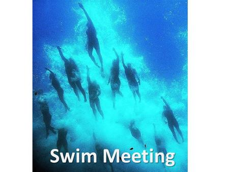 Swim Meeting. Schedule DayBeforeAfter Monday7-8 am in Weight RoomSH 4-4:30 CM 5-6:30 Tuesday4-5pWR WednesdayCM 6:30-8 AM4-5 SH Thursday4-5 WR Friday7-8.