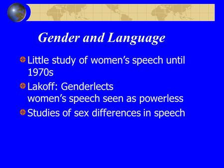 Language sex and gender that interfere