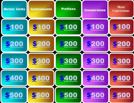 Metric Units Instruments Prefixes Conversions More Conversions $100100 $100100 $100100 $100100 $100100 $200200 $300300 $500500 $400400 $500500 $400400.