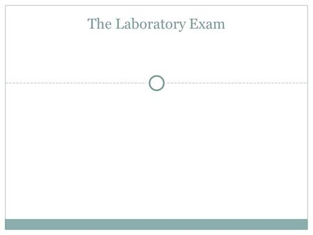 The Laboratory Exam. 1. Solutions Know how to identify acids and bases with litmus paper. Acids turn blue litmus paper red. Bases turn red litmus paper.