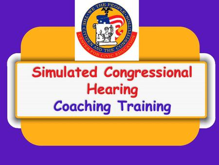 Simulated Congressional Hearing Coaching Training.