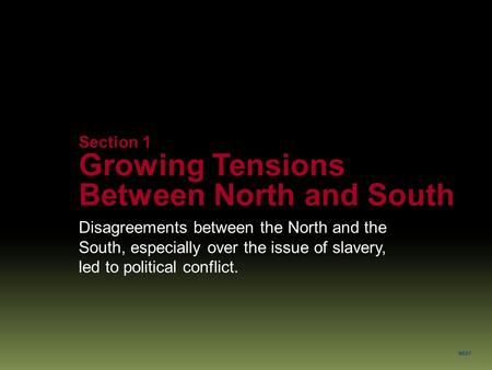 sectional tension between north and south essay