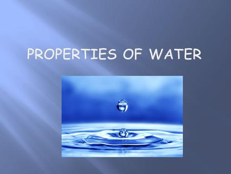  All processes necessary for life take place in a watery environment.