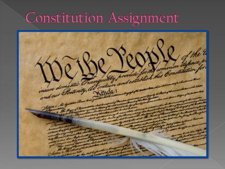 What it is: The US constitution was created to establish the principles that the citizens of the US wanted to be established in the government It lays.