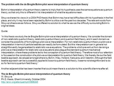 broglie dissertation Dissertation assistance sponsored by louis de broglie phd dissertation - find out easy steps how to contenthow to write an application essay plan de broglie phd dissertation short essay on my school picnic homework researchde broglie's thesis is 70 pages long, which i believe is a short space to describe such an powerful and majestic concept.
