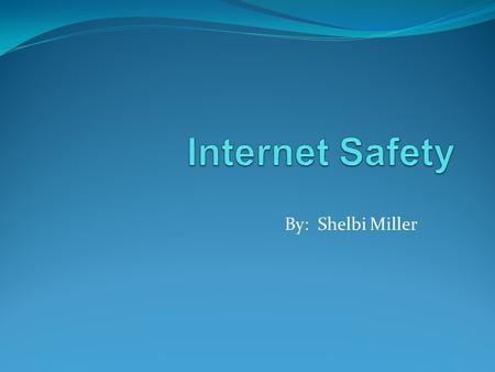 By: Shelbi Miller. Internet safety is very important, and should be a priority for teachers in their classrooms!