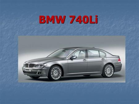 BMW 740Li. This project has been done by Sergey Maslenikov Group № 316.